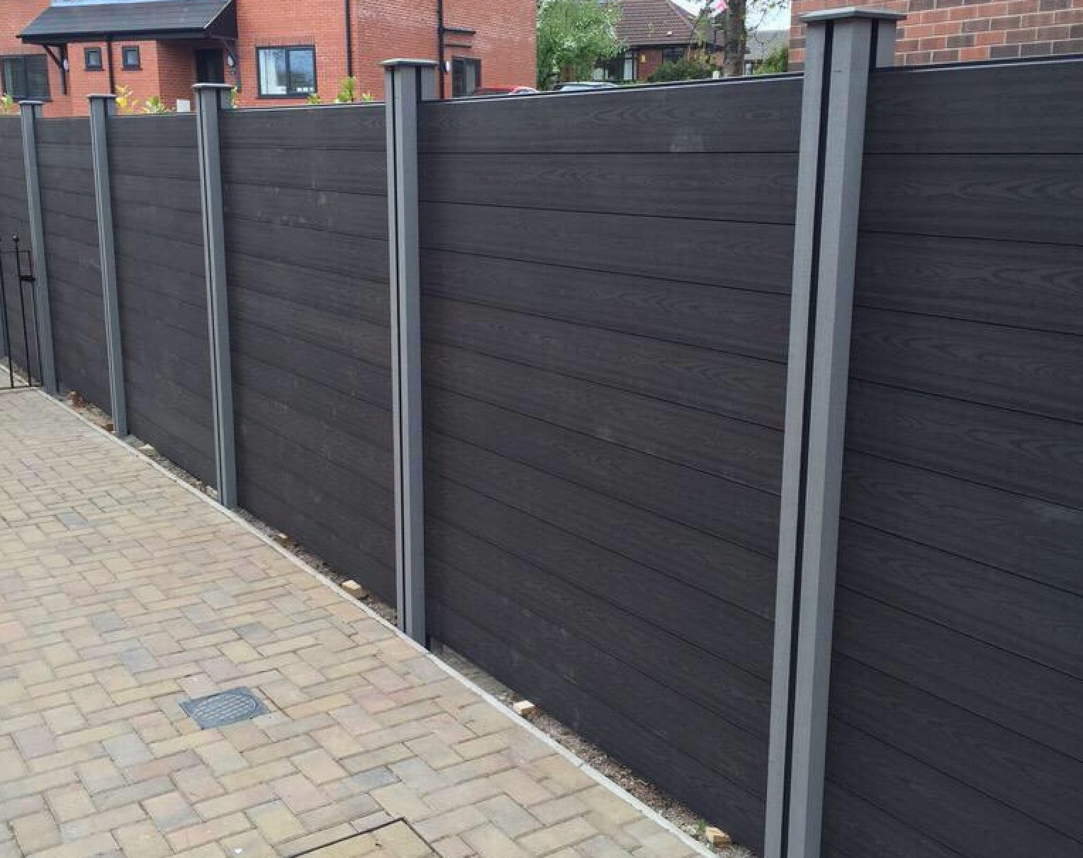 6ft fence panel use with existing concrete posts wpc fencing boards baanklon Gallery