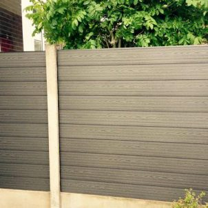 composite-wood-fencing-in-concrete-post
